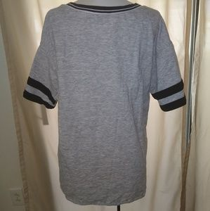 "Dkny Tops - DKNY Cotton blend Graphic""D"" Jersey Shirt Size L"
